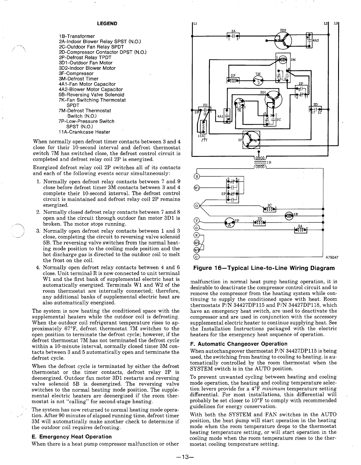 Page 13 Of Bryant Heat Pump 542e User Guide Manualsonlinecom Spdt Relay Wiring Diagram Fan 16