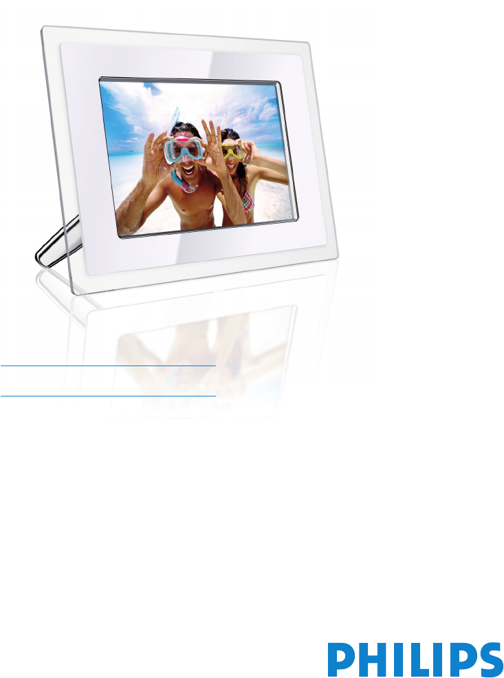 Philips Digital Photo Frame 10FF2 Series User Guide | ManualsOnline.com