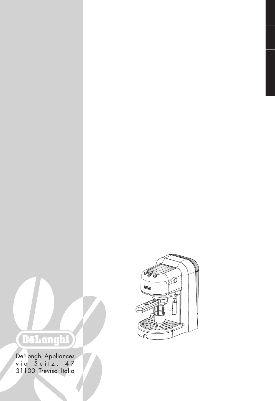 delonghi filter coffee machine instructions