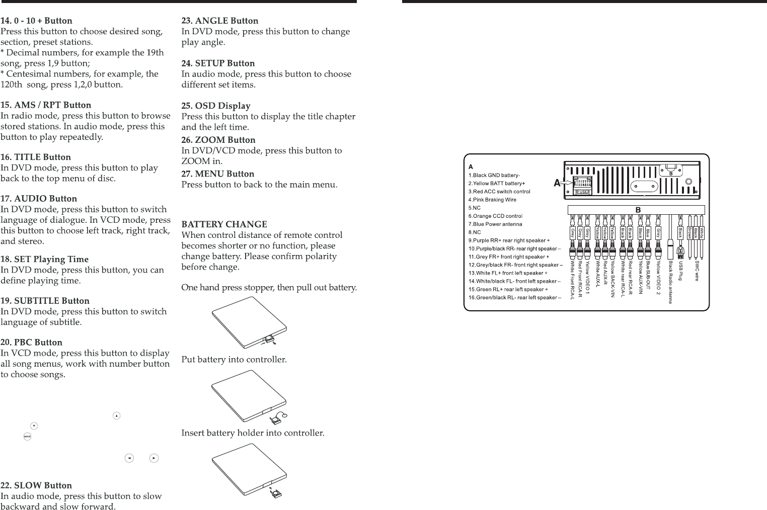 page 6 of boss audio systems car stereo system bv8963 user guide 21 up down left right enter button