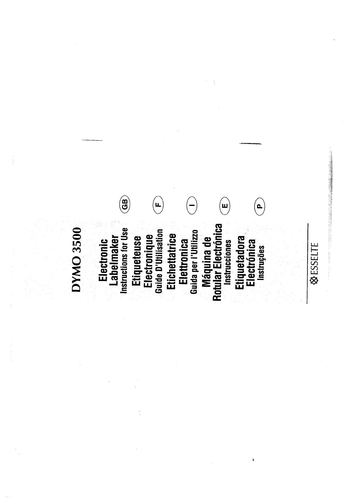 esselte label maker dymo 3500 user guide manualsonline com rh office manualsonline com DYMO Label Maker DYMO Cartridge