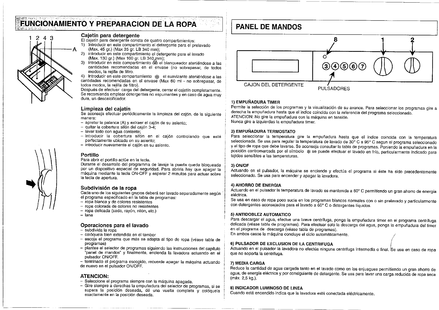 page 5 of smeg washer 630st 1 user guide manualsonline com rh laundry manualsonline com bosch washing machine instruction manual korting washing machine instruction manual