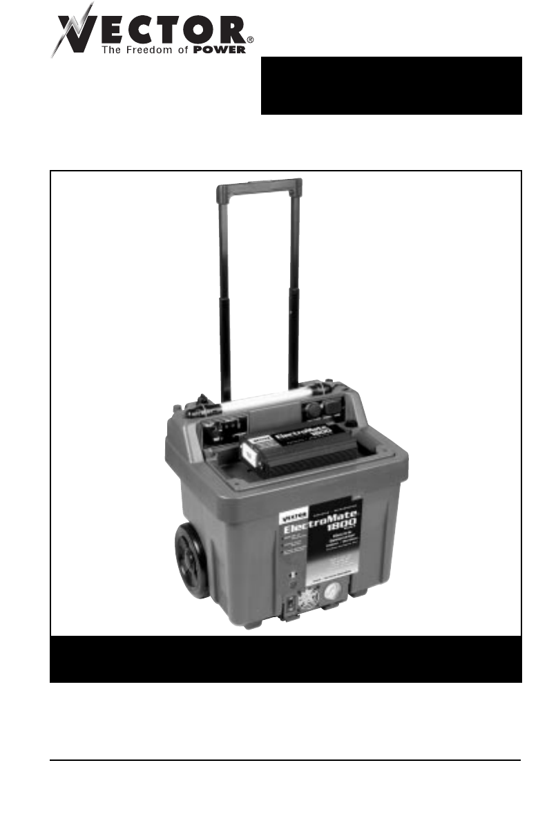 Vector portable generator vec097 user guide for Vector canape user manual