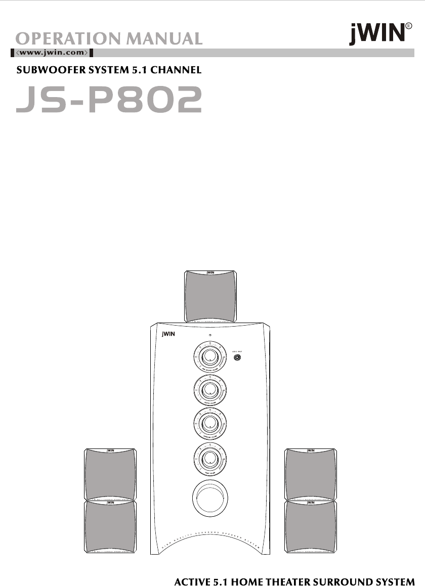Jwin Speaker Js P802 User Guide Manualsonlinecom Home Theater 5 1 Wiring Diagram Next