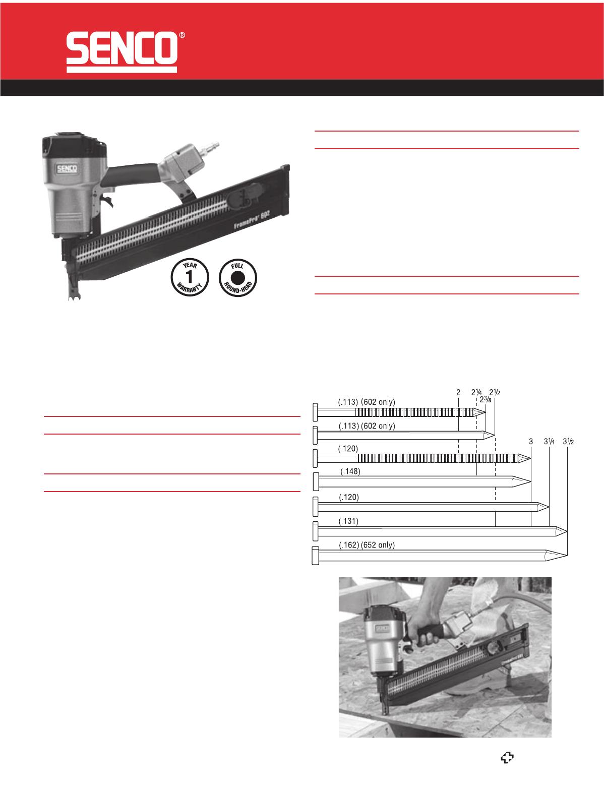 Senco Nail Gun FramePro 652 User Guide   ManualsOnline.com