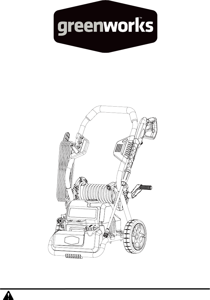 Greenworks Tools Pressure Washer Gpw 2000 User Guide Manual Guide