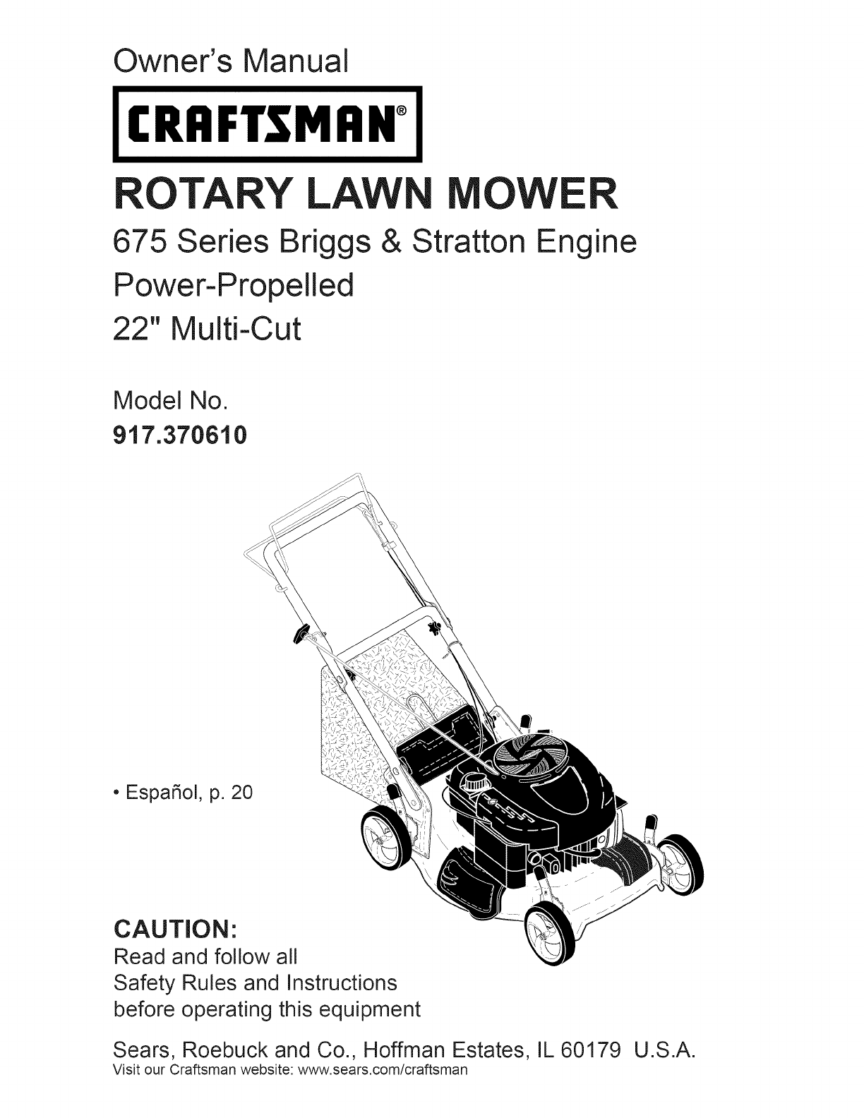 Craftsman lawn mower 37061 user guide manualsonline fandeluxe Image collections