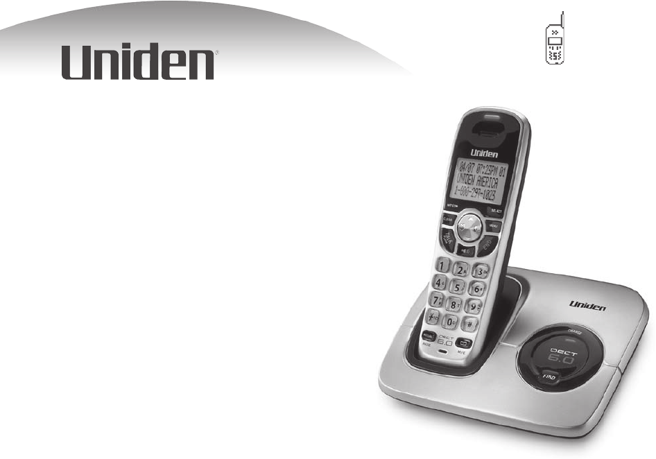 uniden cordless telephone dect1560 series user guide manualsonline com rh manualsonline com Uniden 6.0 Cordless Phone Manual Uniden Phone Manual 2.4Ghz
