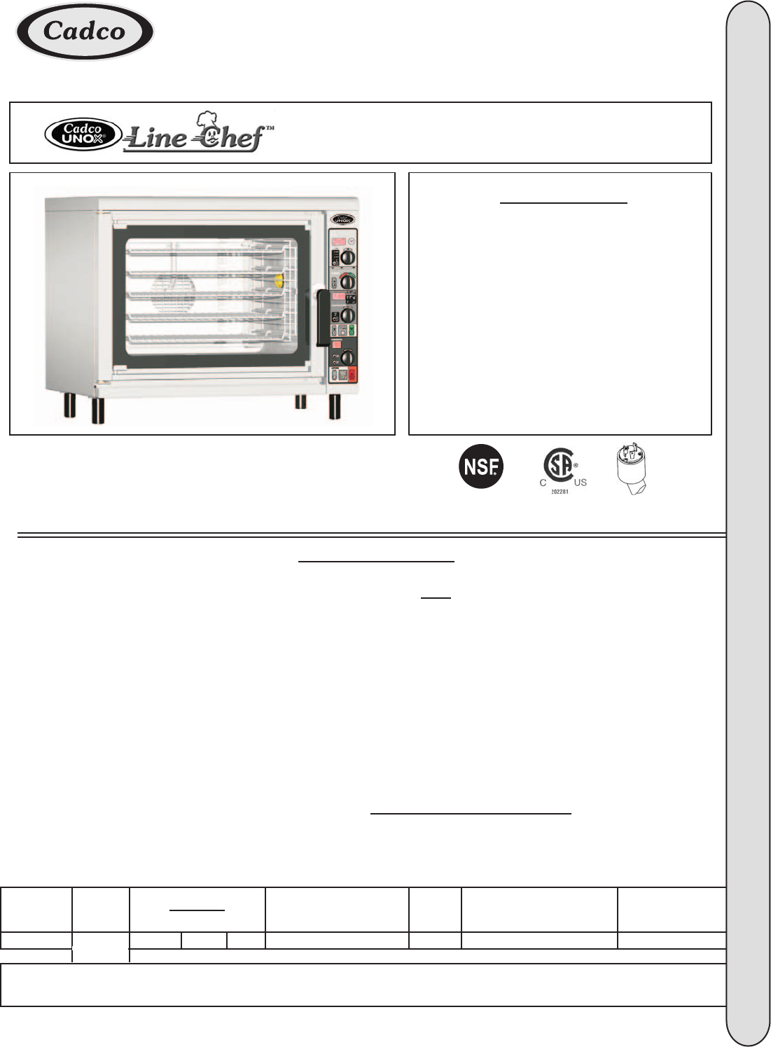Model CAPO-303 - Countertop combination oven