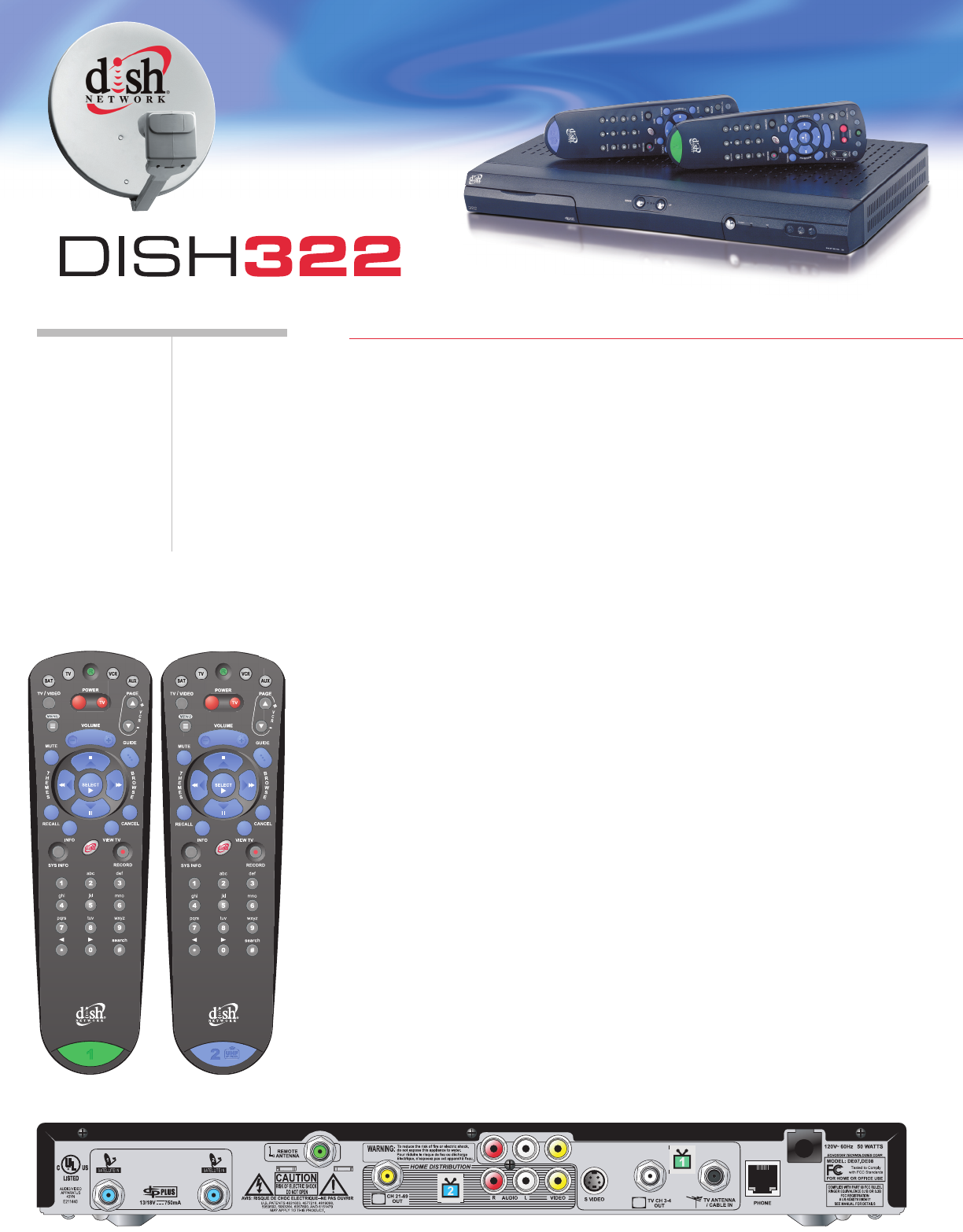 Dish 322 Receiver Manual Complete Wiring Diagrams Diagram Echostar Satellite Tv System User Guide Manualsonline Com Rh Installation Connection