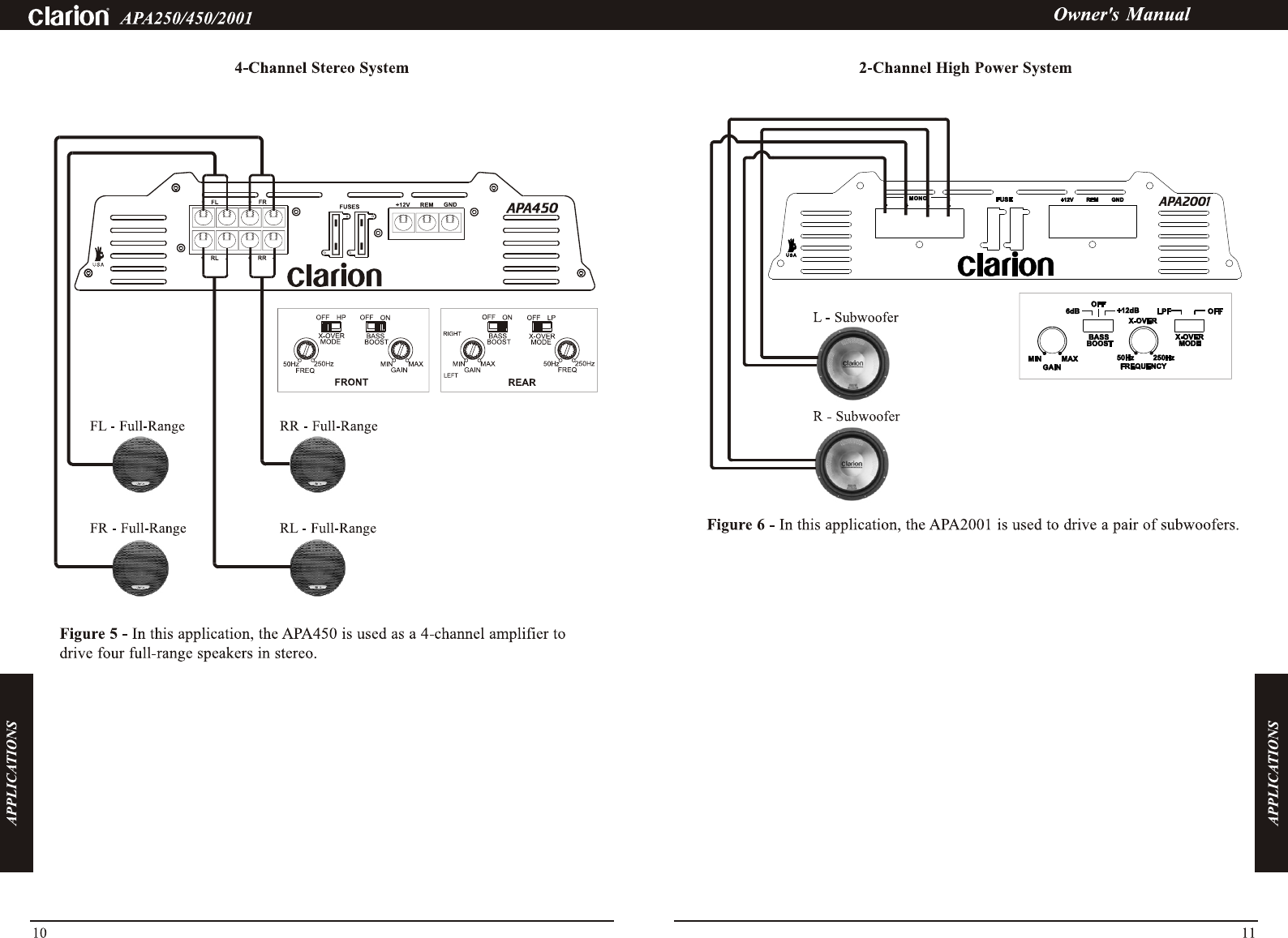 Page 3 Of Clarion Car Stereo System Apa450 User Guide