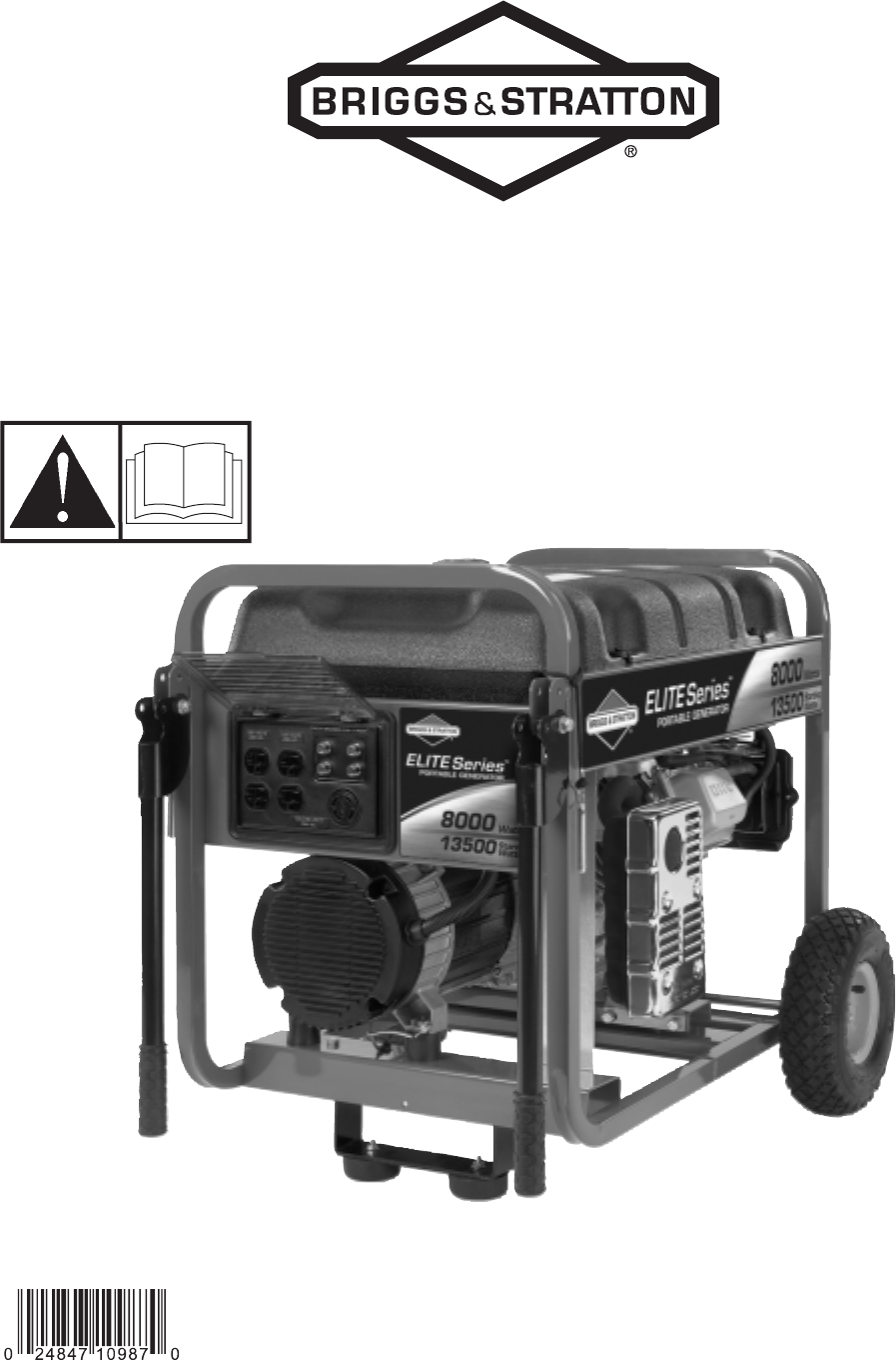 briggs stratton portable generator 8000 watt portable generator rh lawnandgarden manualsonline com briggs and stratton 5500 watt portable generator manual briggs & stratton 6250 watt portable generator manual