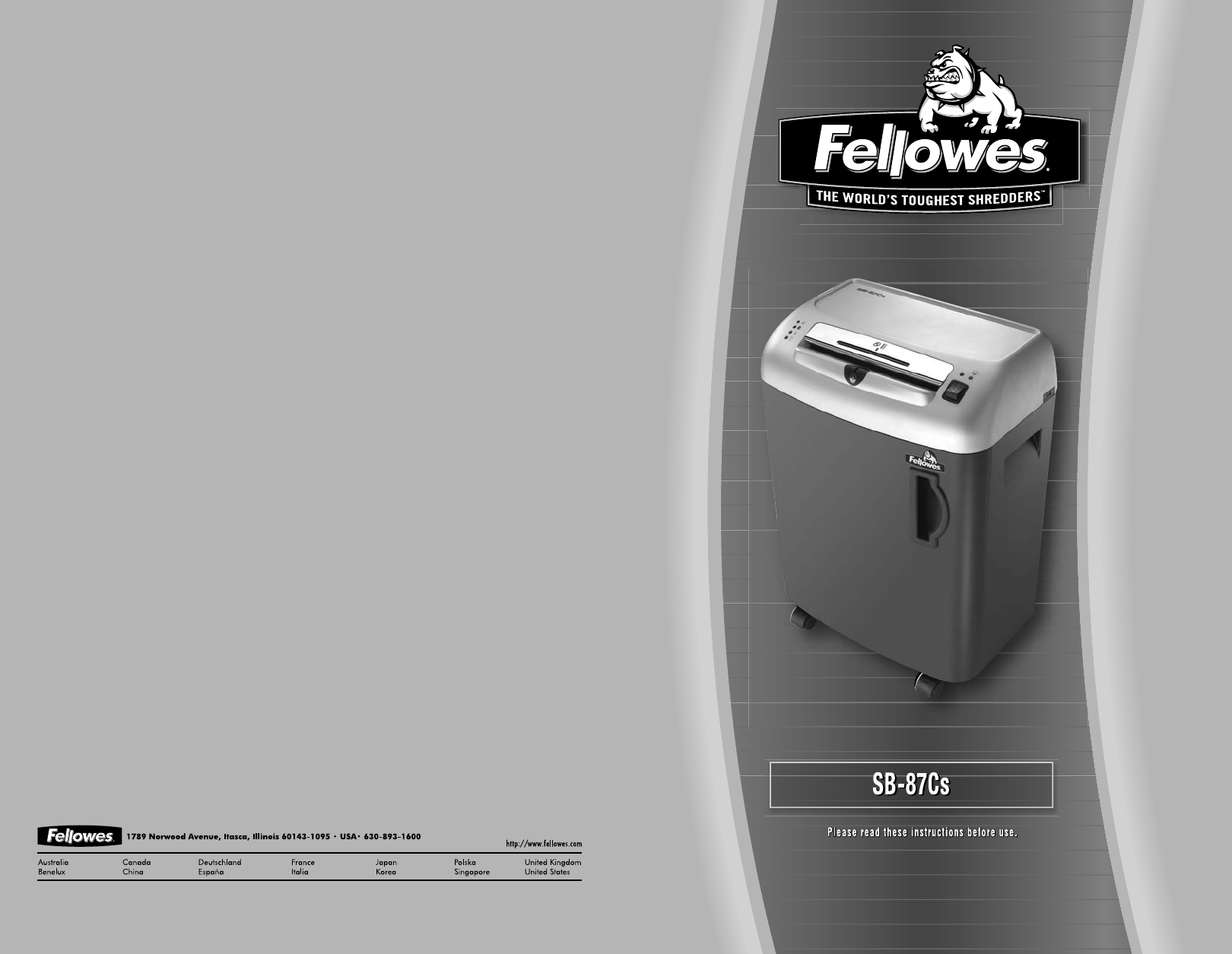 fellowes paper shredder sb 87cs user guide manualsonline com rh office manualsonline com