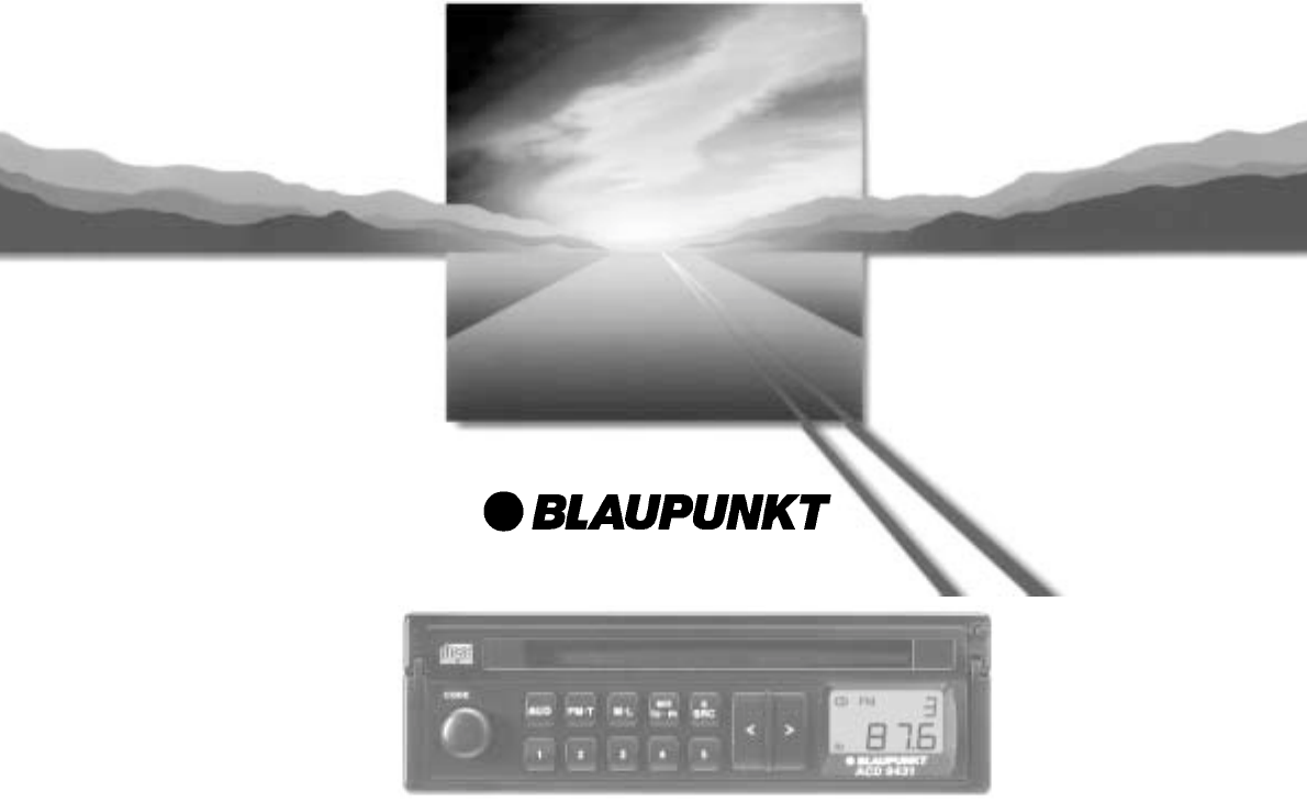 blaupunkt car stereo system acd 9431 user guide manualsonline com rh caraudio manualsonline com blaupunkt 520 car stereo manual blaupunkt car stereo manual