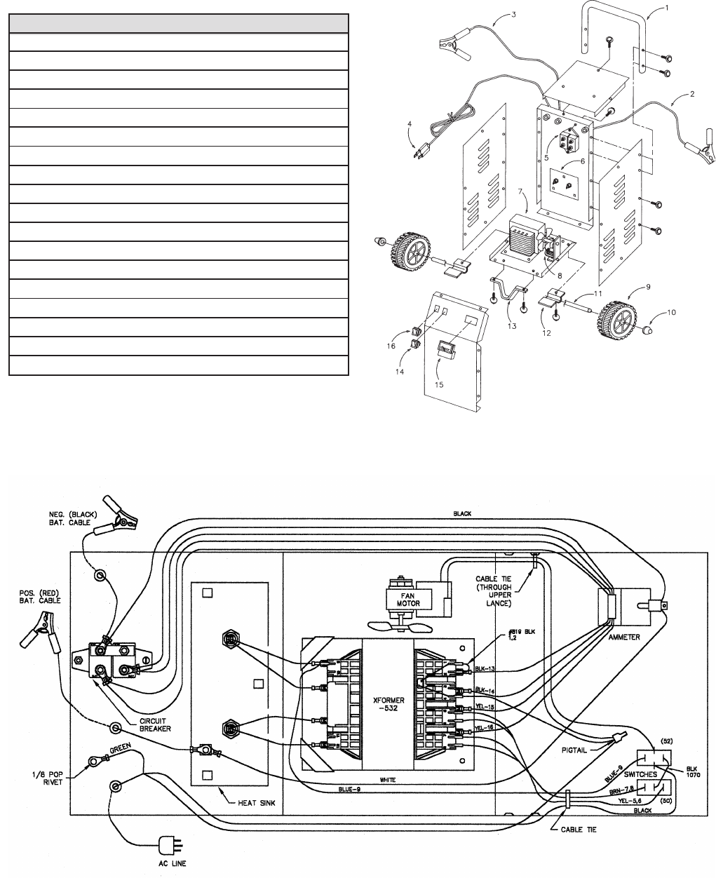 schumacher battery charger se wiring diagram wiring diagrams page 4 of sears battery charger 200 71231 user