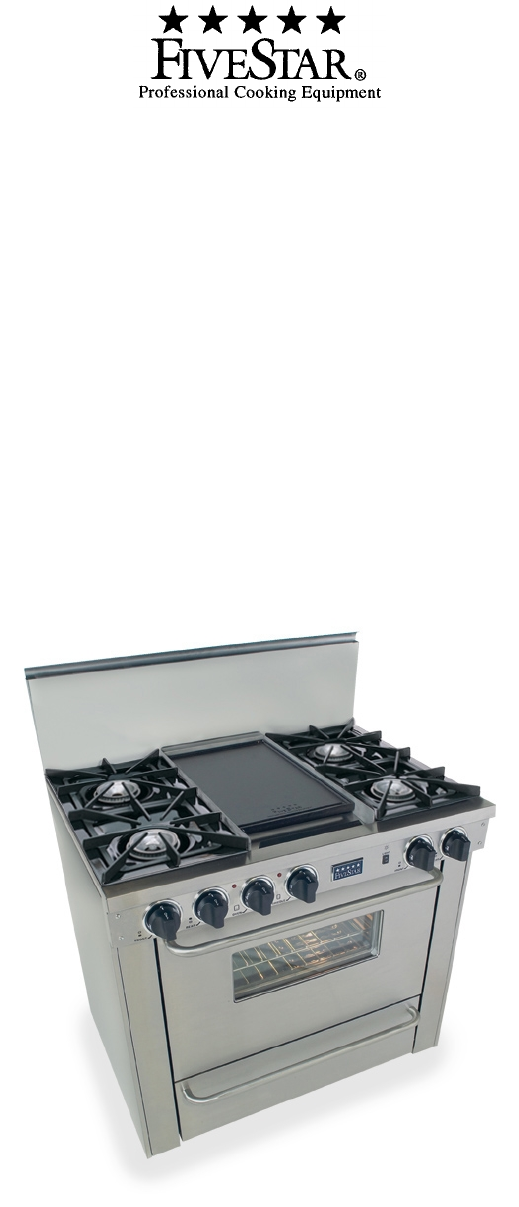 five star ranges range pn310 7w user guide manualsonline com rh kitchen manualsonline com Five Star Stoves Parts Jiangsu Five Star Appliance Co