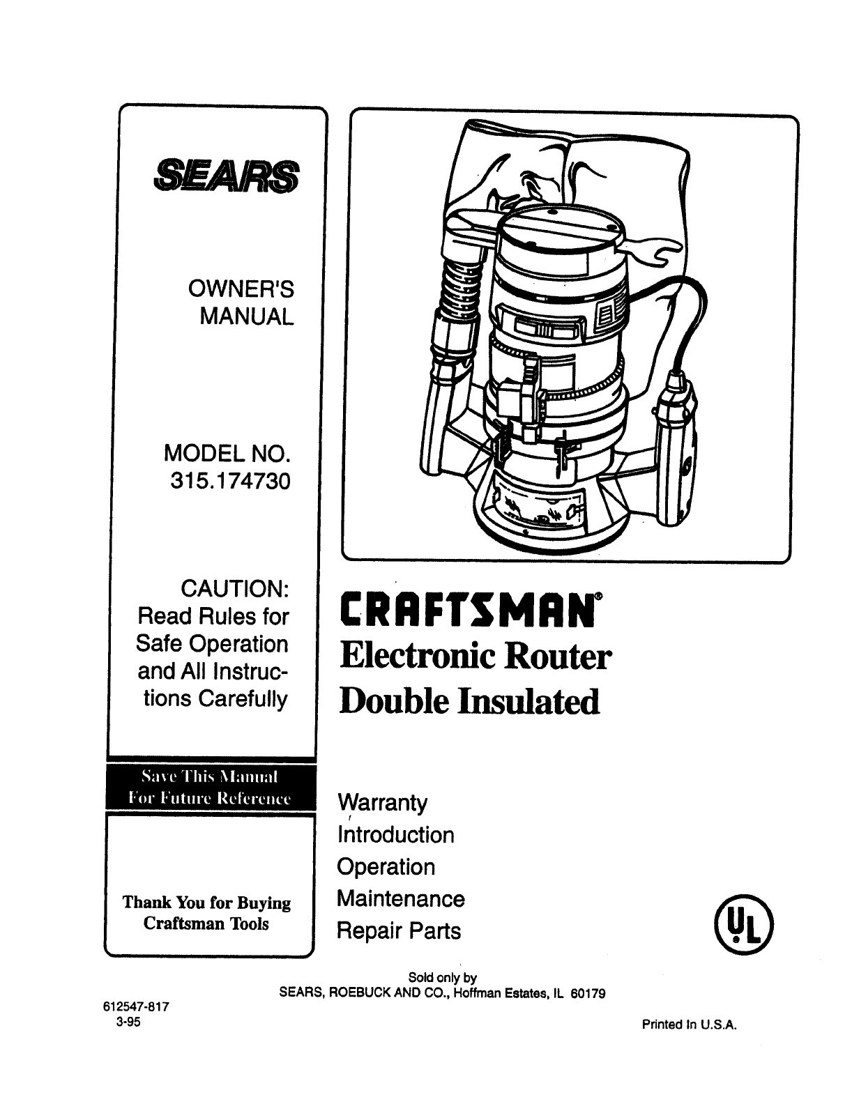 7d677a8b 287b 4a27 a1ac a6038dc8e4d1 bg1 sears router 315 17473 user guide manualsonline com Craftsman Plunge Router Models at pacquiaovsvargaslive.co