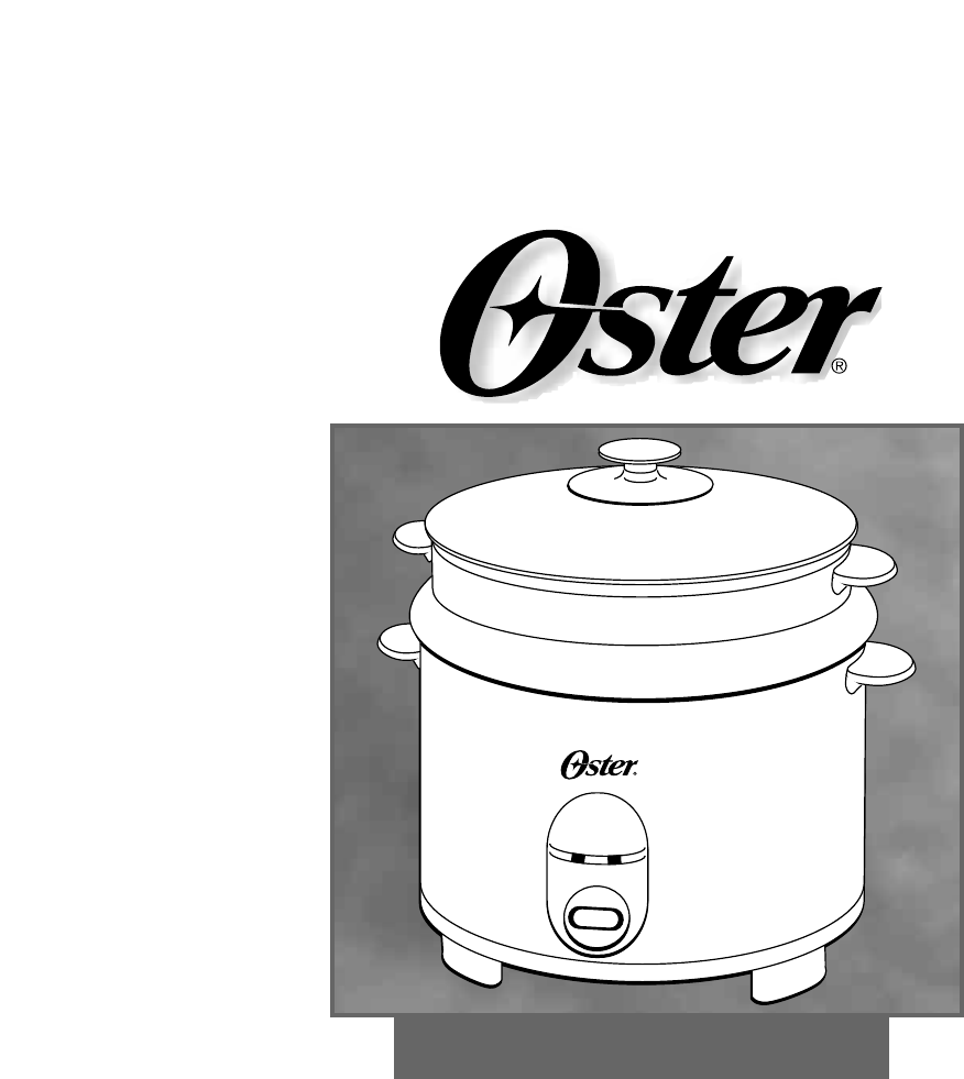 oster rice cooker 4718 user guide manualsonline com rh kitchen manualsonline com oster instant steamer instruction manual Oster Instruction Manual