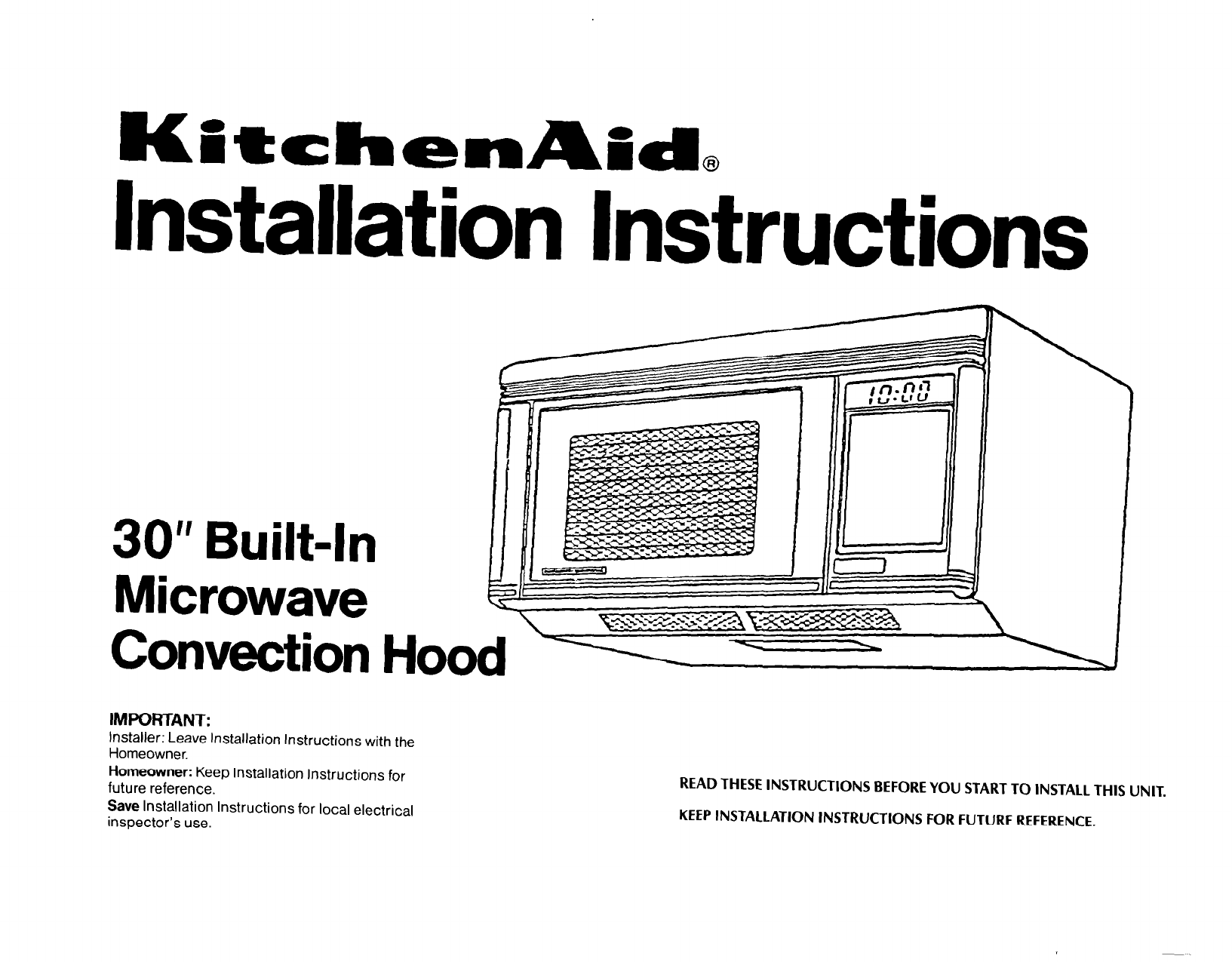 Kitchenaid Microwave Oven 1435 User Guide Manualsonline Com