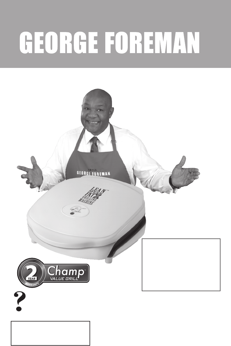 George Foreman Kitchen Grill Gr18 User Guide Manualsonline