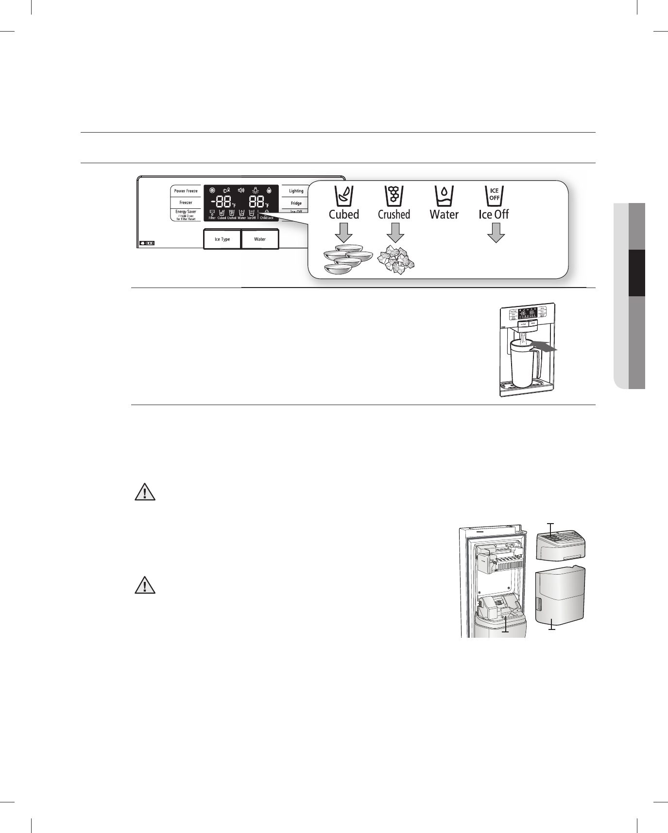 page 21 of samsung refrigerator rsg257aars user guide rh kitchen manualsonline com Samsung RSG257 Manualm Operators Manual Samsung RSG257 Manualm Operators Manual
