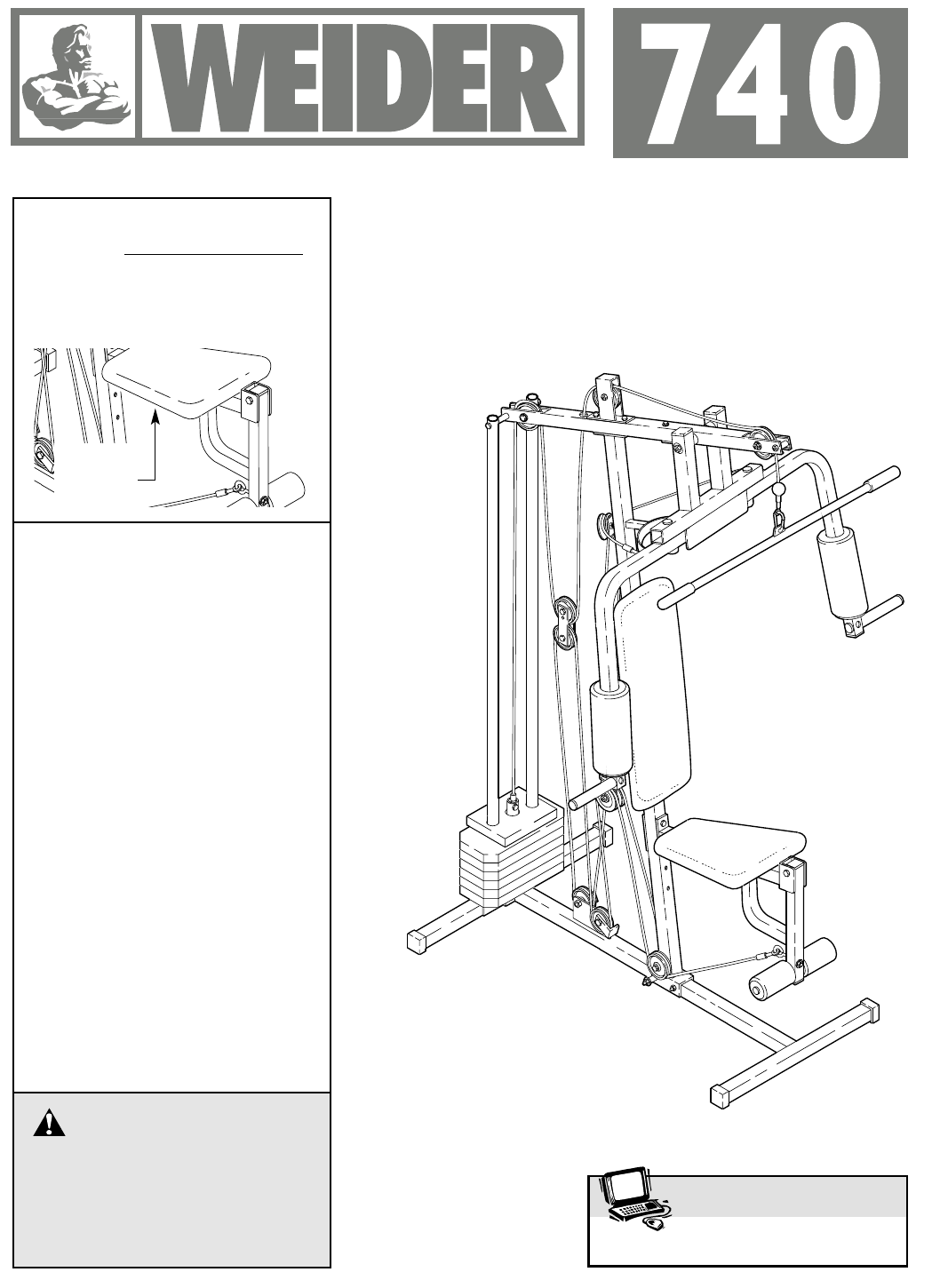 Weider Home Gym 740 User Guide