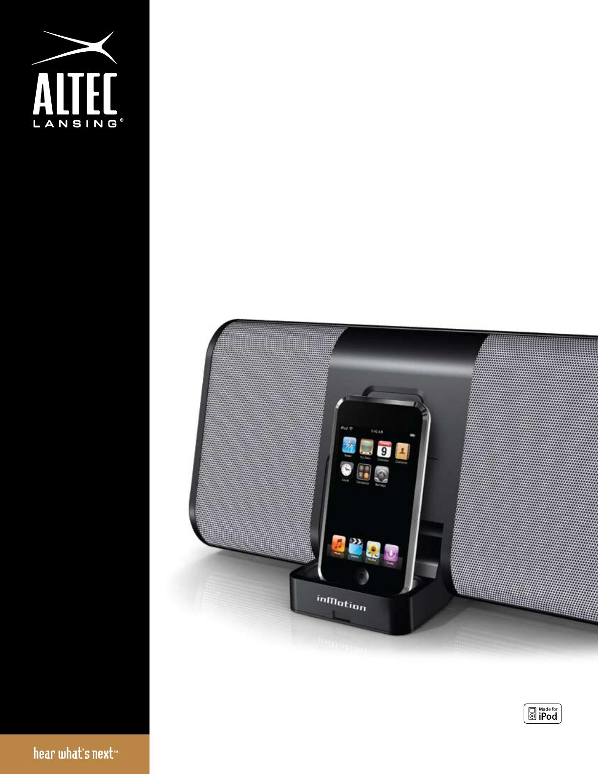 altec lansing speaker im310 user guide manualsonline com rh audio manualsonline com Altec Lansing Speakers Waterproof Bluetooth Speaker Altec Lansing