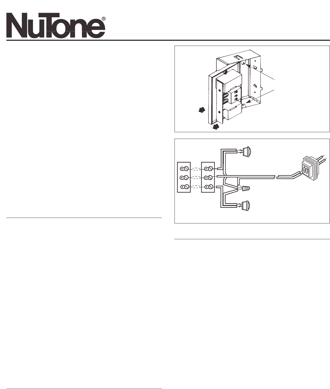 Nutone Door Lb 14 User Guide Manualsonlinecom Volume Control Wiring Diagram For Wall Manual