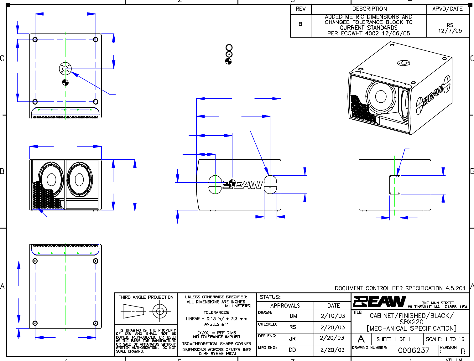 eaw sbx220 user guide