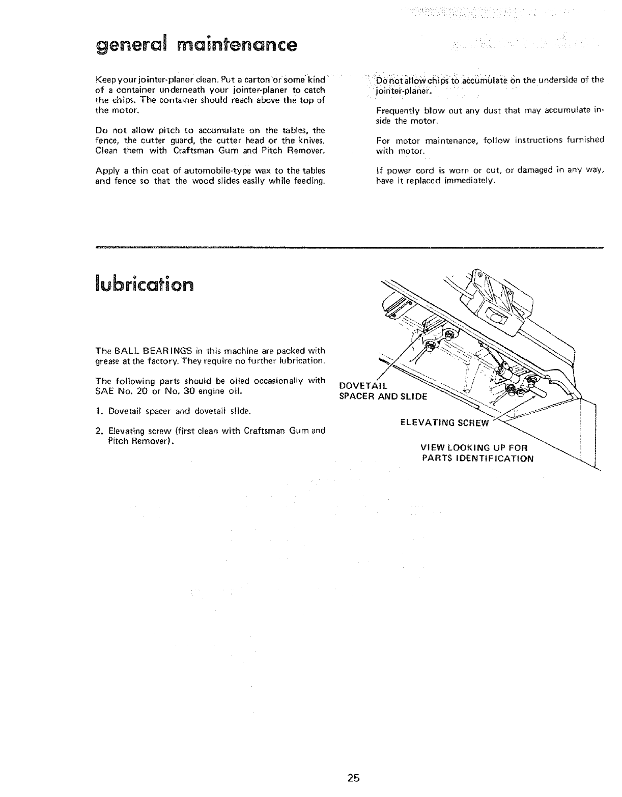 page 25 of sears planer 113 206931 user guide manualsonline com rh powertool manualsonline com De Walt Planer DW735 Manual Delta DC-380 Planer Manual