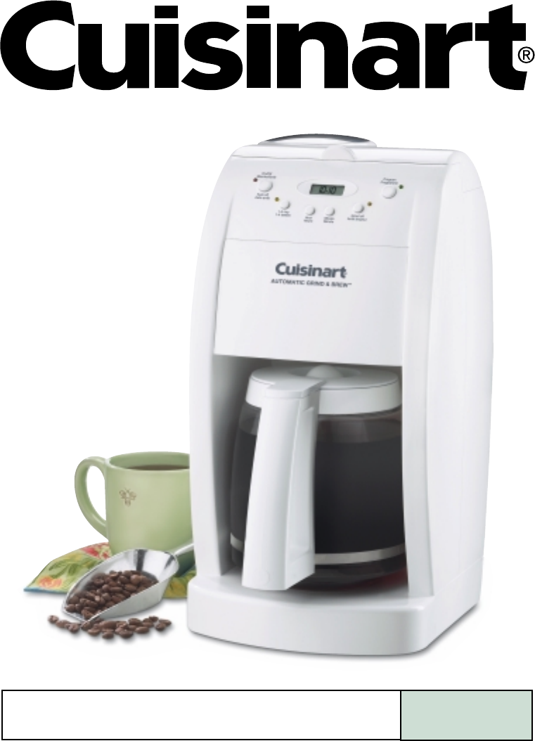 cuisinart grind and brew manual