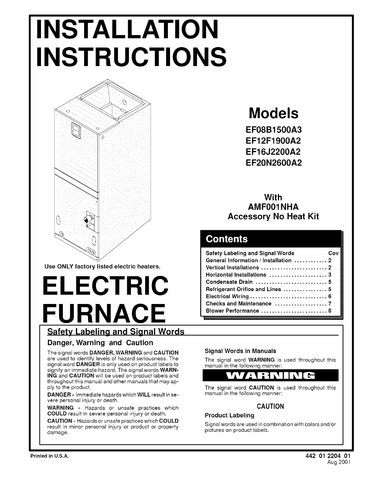Goodman Furnace Installation Instructions Manual Guide