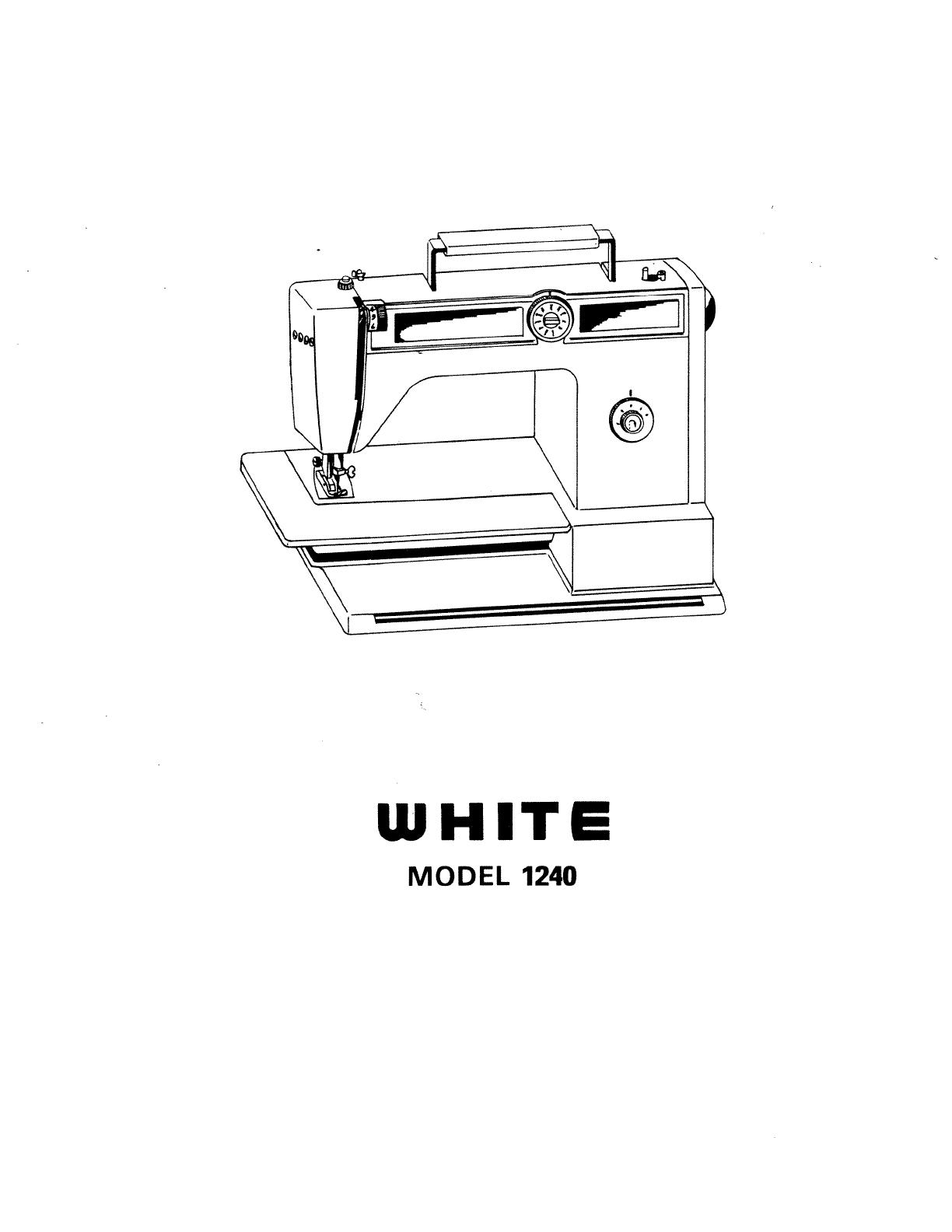 white sewing machine e6354