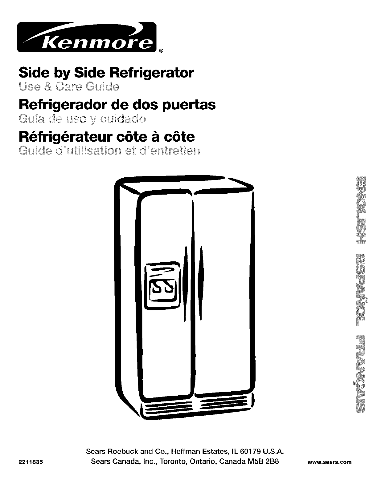 Kenmore Model 106 Refrigerator Manual