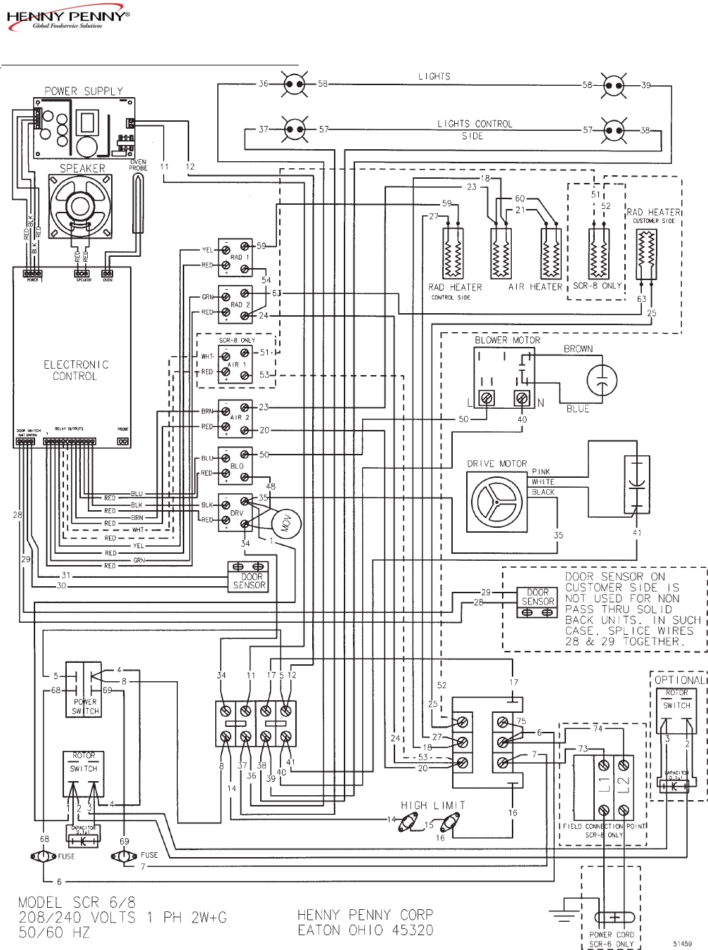 Page 28 Of Henny Penny Convection Oven Scr 6 8 User Guide Wiring Diagram