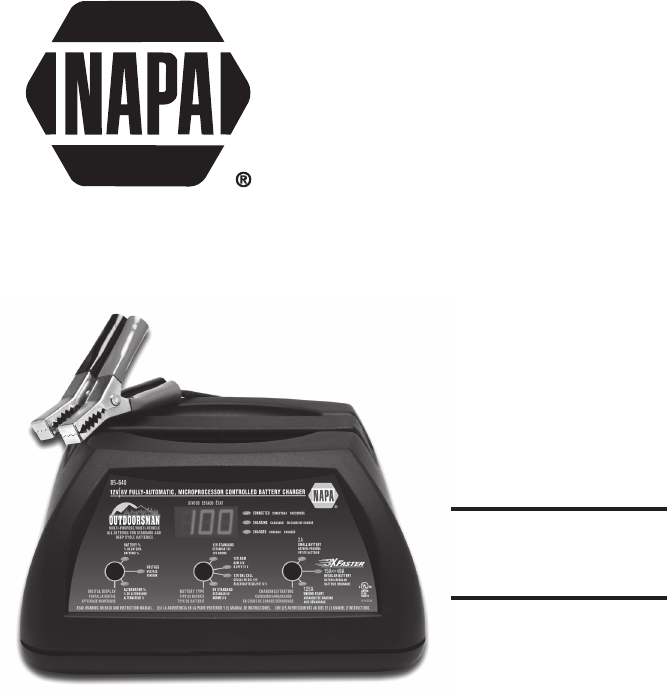 napa essentials battery charger 85 640 user guide manualsonline com model 85 640 professional battery