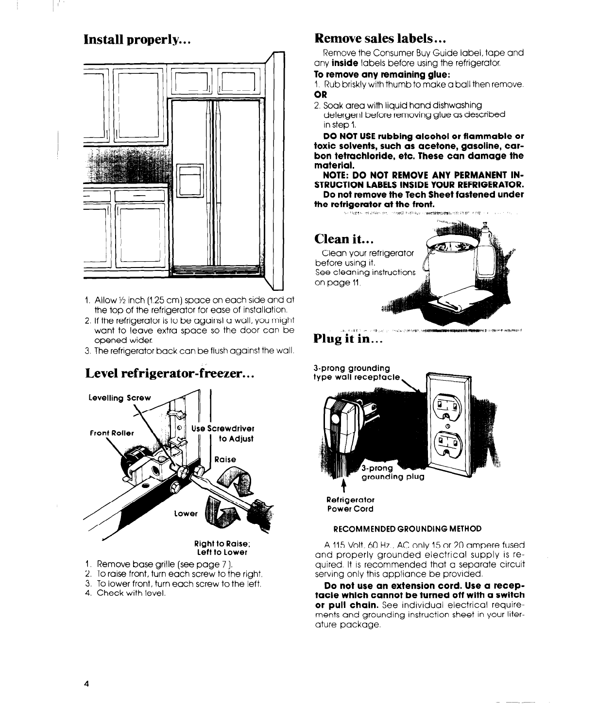 page 4 of whirlpool refrigerator ed25pm user guide manualsonline com rh kitchen manualsonline com Whirlpool Refrigerator Side by Side Whirlpool Refrigerator Model Numbers