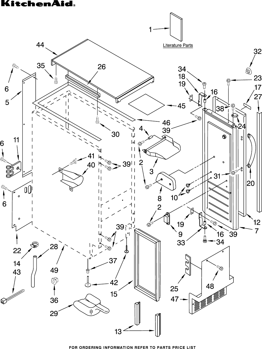 ... Wire Diagram Kitchenaid Kitchenaid Ice Maker Kuic15nrts2 User Guide Manualsonline Com Whirlpool Ice Maker Parts Cabinet Liner And Door ...
