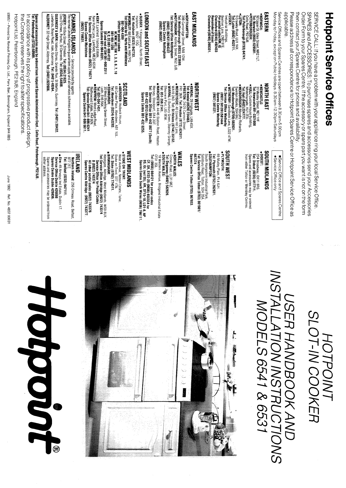 hotpoint cooktop 6531 user guide manualsonline com