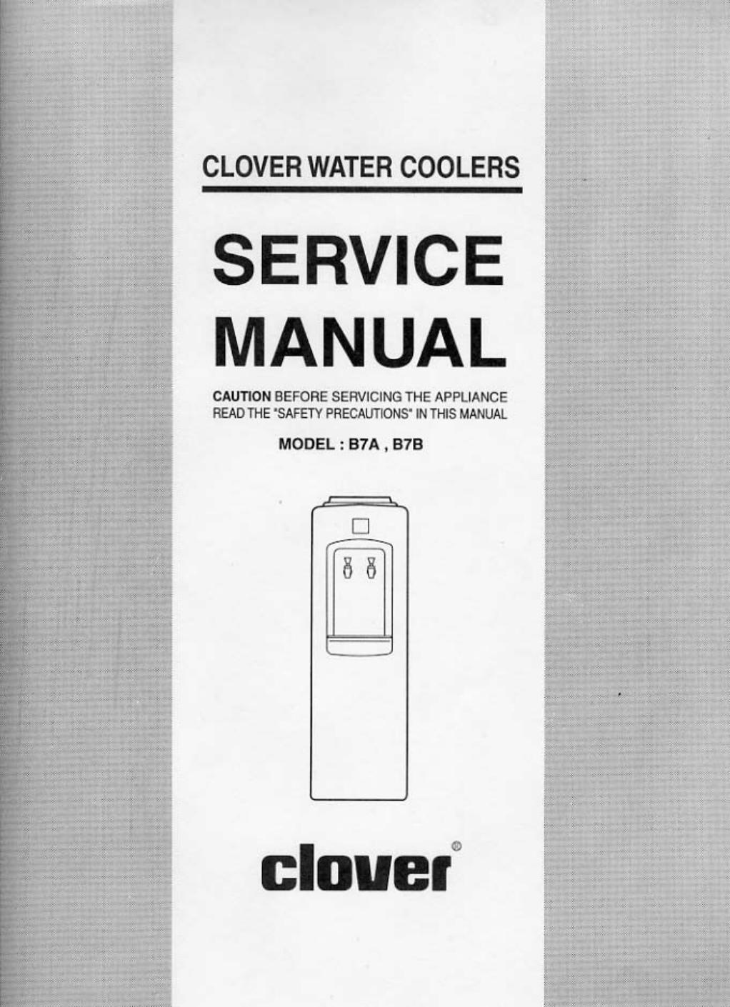 Clover Electronics Water Dispenser B7a User Guide