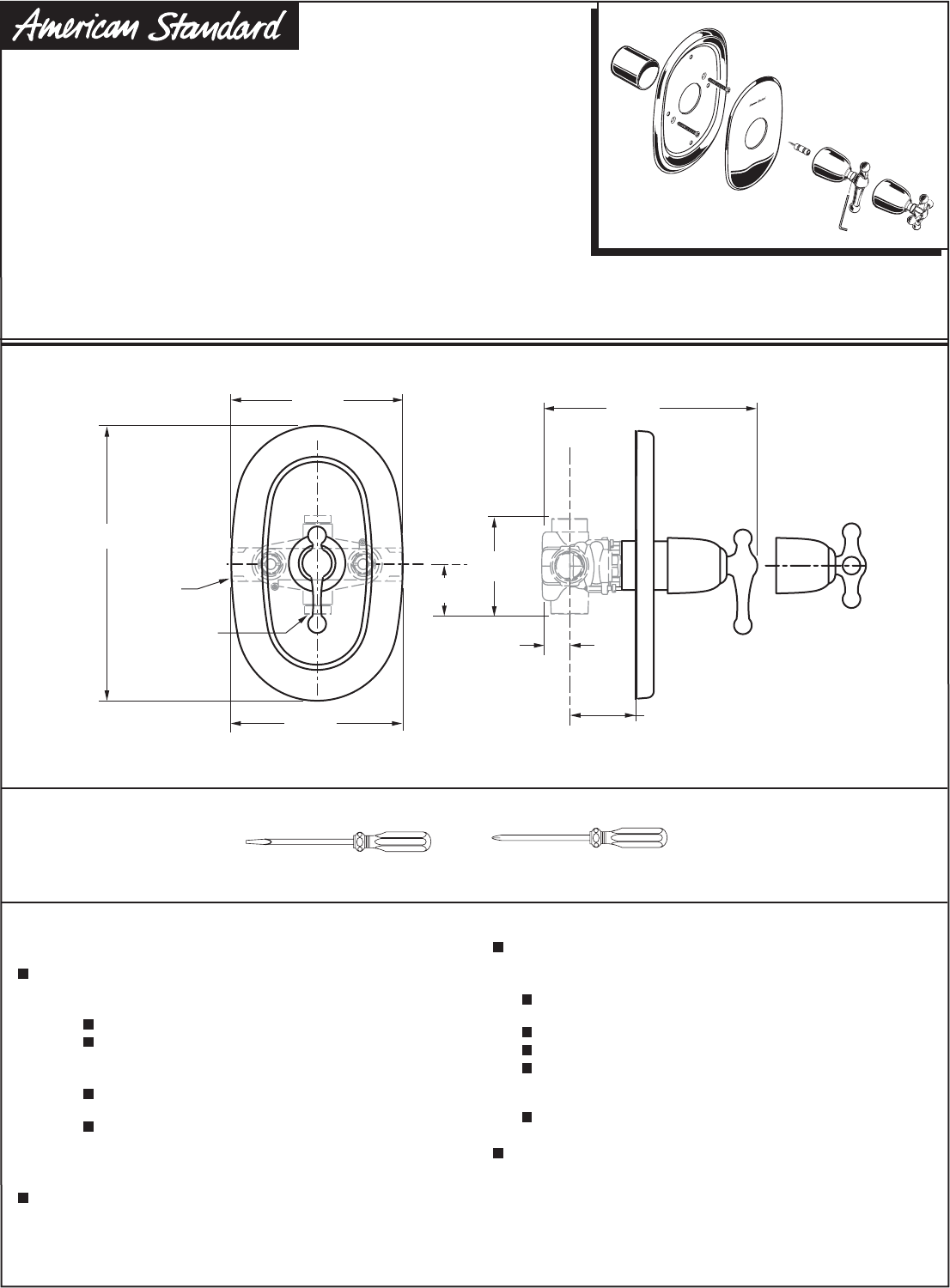 american standard 824 thermostat manual