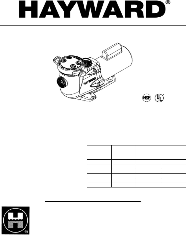 hayward pool heat pump manual