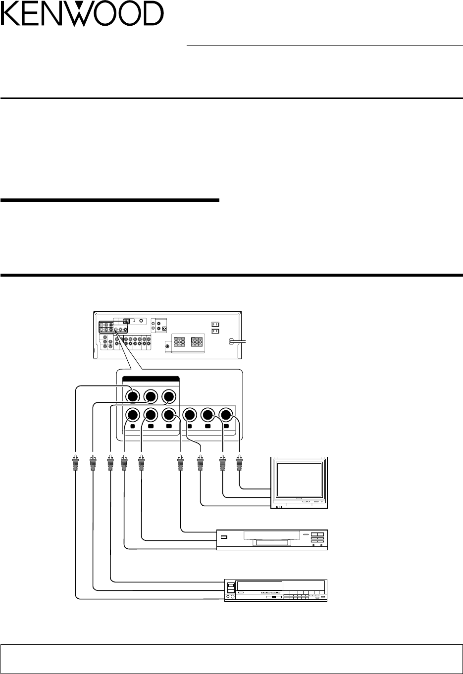 Kenwood Stereo Receiver Vr 705 Sa User Guide Manualsonlinecom Wiring Diagram For Surround Sound Manual