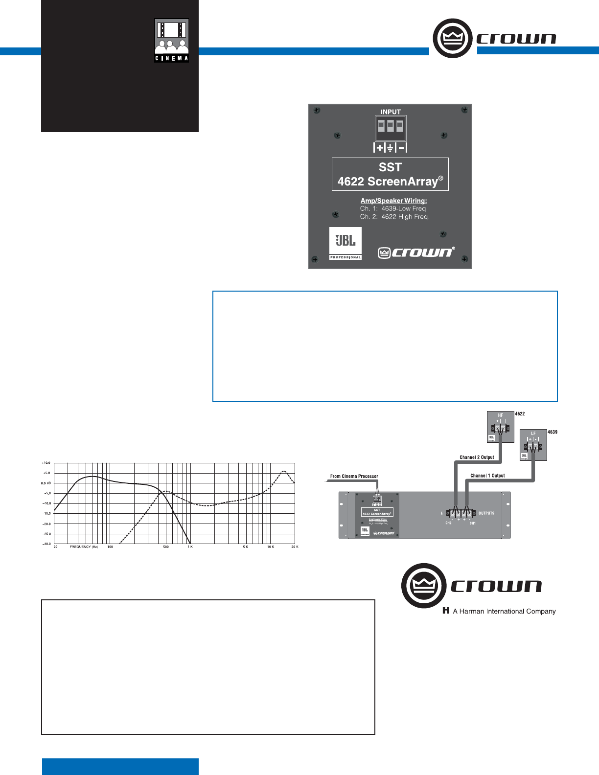 Crown Audio Stereo Amplifier Sst 4622 User Guide Manualsonlinecom Wiring Diagram Manual