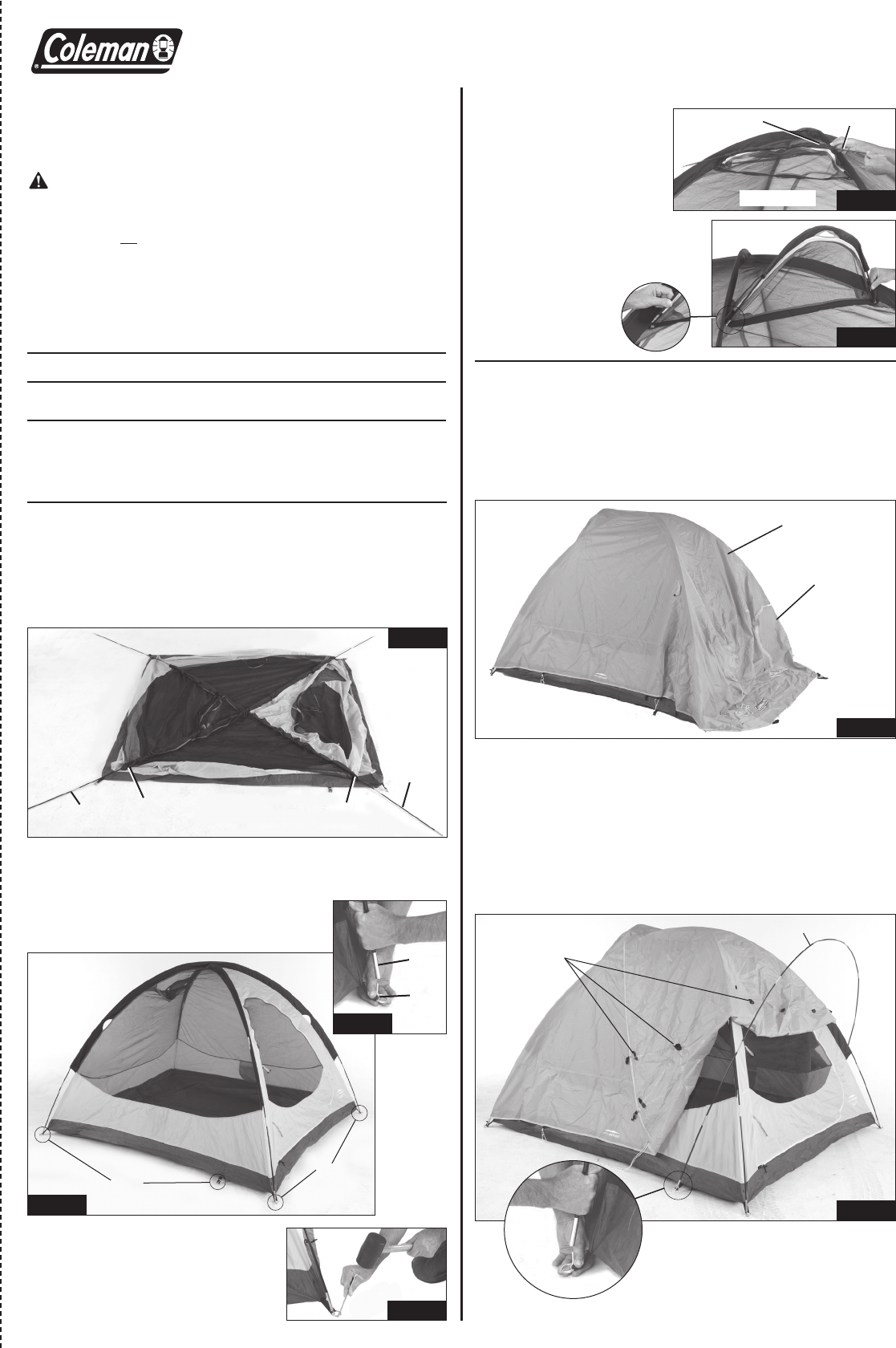 Coleman 2000001590 Tent User Manual  sc 1 st  Fitness Equipment Manuals - ManualsOnline.com & Coleman Tent 2000001590 User Guide | ManualsOnline.com