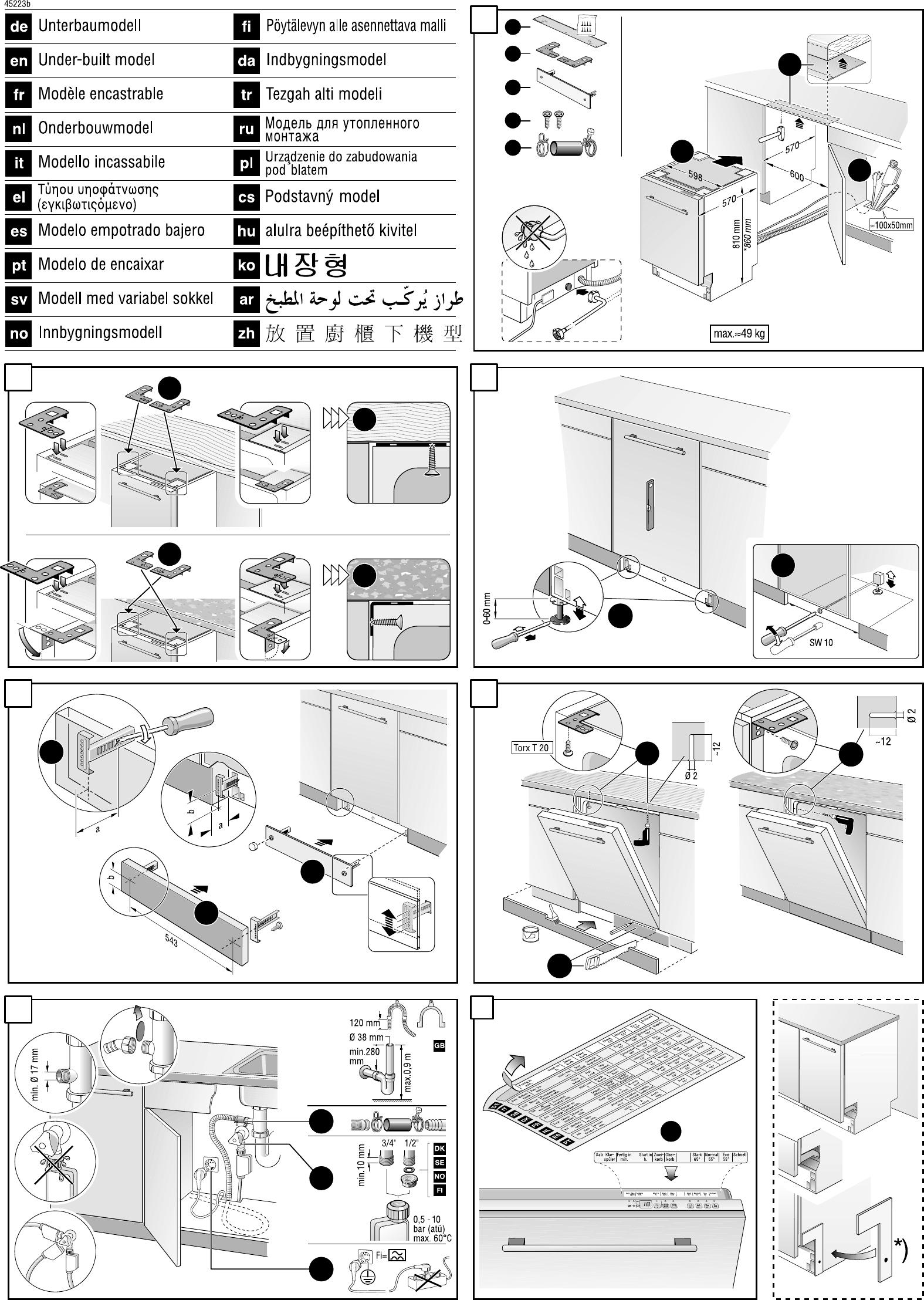 page 2 of siemens dishwasher se 24031 gb 22 user guide rh kitchen manualsonline com Drawer Dishwasher Siemens Dishwasher Parts Diagram