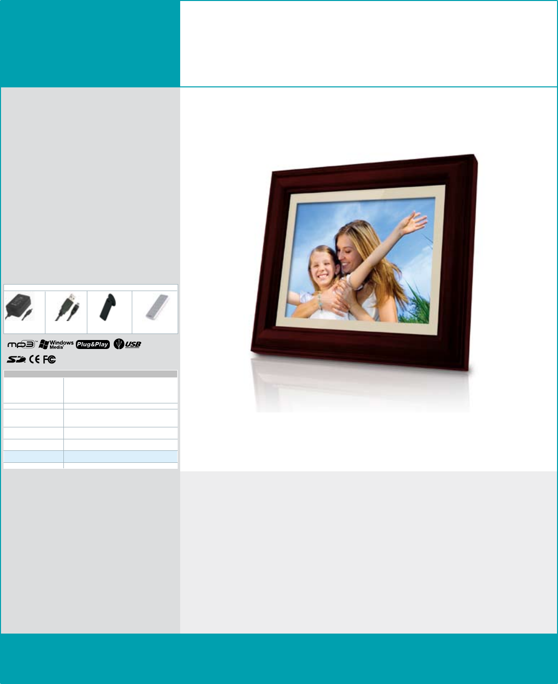 COBY electronic DP848-128 Digital Photo Frame User Manual