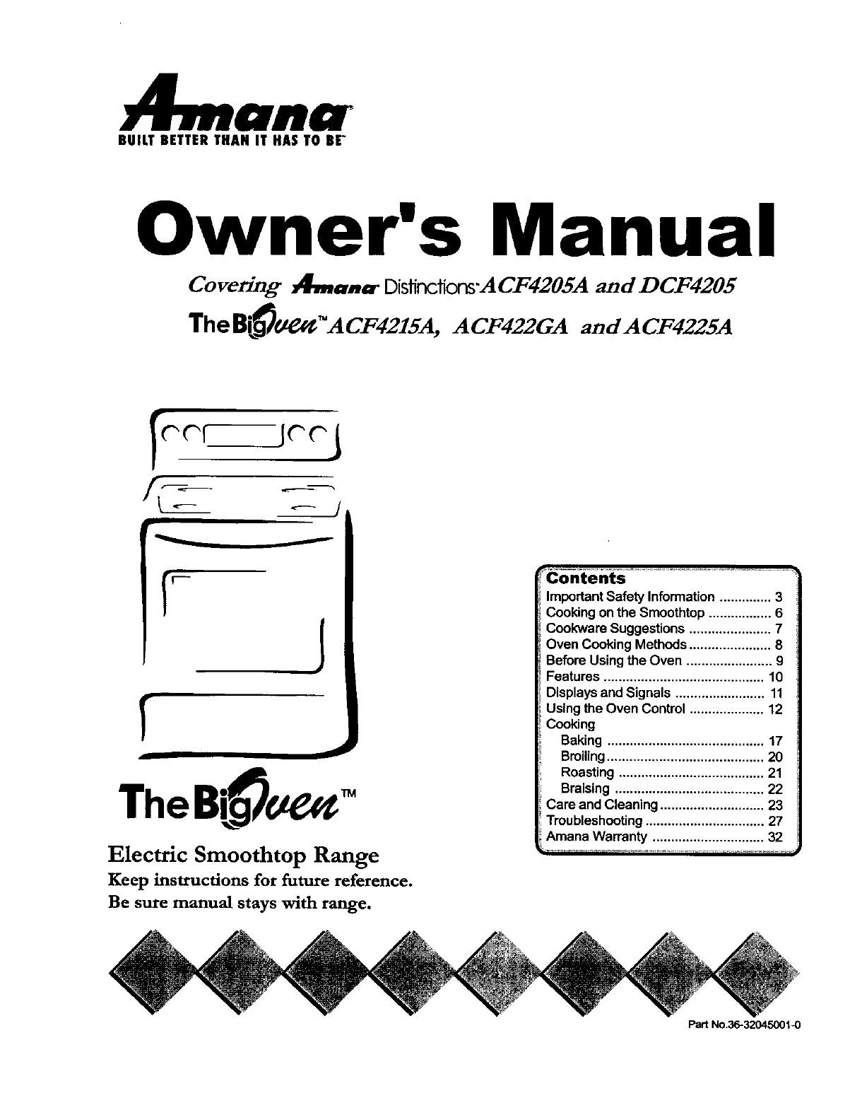 amana range acf4215a user guide manualsonline com rh kitchen manualsonline com amana washer service manual amana washer owners manuals online