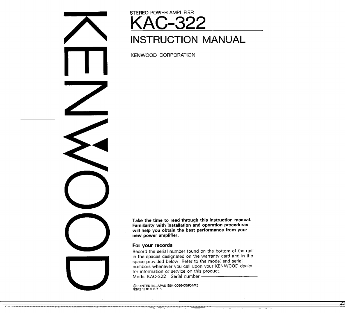 Kenwood Kdc 322 Wiring Diagram 30 Images Amplifier 83b11ac8 8eb9 5224 7112 D93ad8dc1fe2 Bg1 Stereo Kac User Guide Manualsonline Com