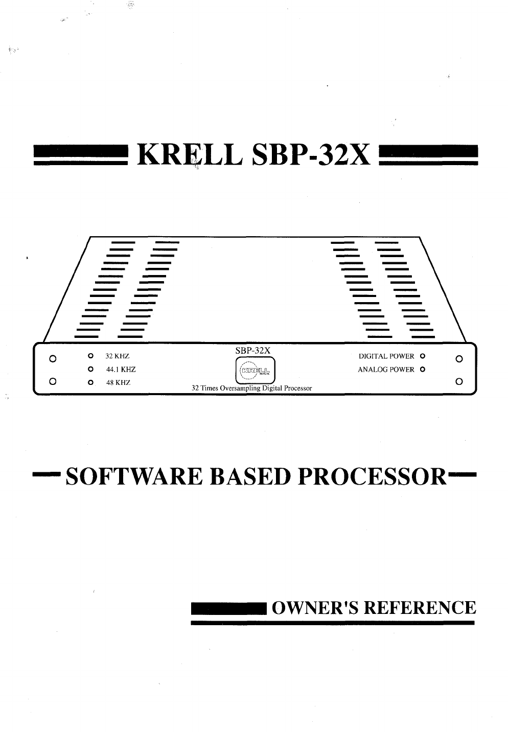 krell industries stereo system sbp 32x user guide manualsonline com rh audio manualsonline com